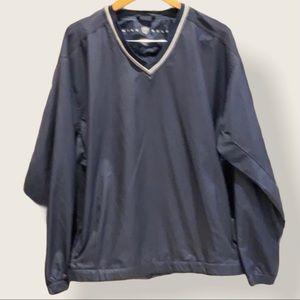 Nike Men's Navy V-Neck Long Sleeve Wind Jacket